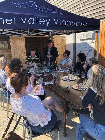 John Hemmant leading a tasting of Chet and Waveney Valley Wines