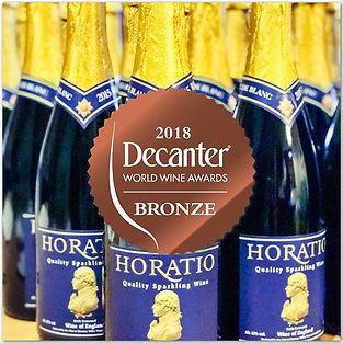 Horatio 2015 Blanc de Blanc won a bronze Decanter world wine award in 2018