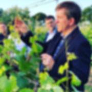 John Hemmant - wine maker leading a tour of the vineyard