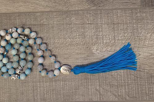 Kids Mala Necklace - Blue Hope