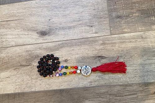 Kids Mala Necklace - Chakras/Lava Beads