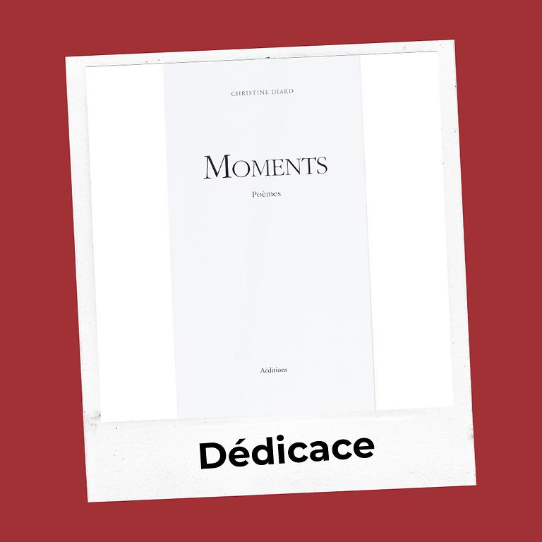 """Dédicace Christine Diard """"Moments"""" recueil de poèmes et dégustation de vin 🍷"""
