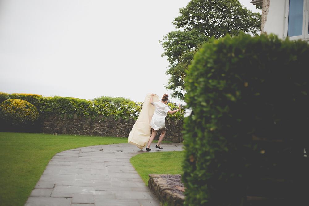 oxwich bay wedding, rockabilly wedding