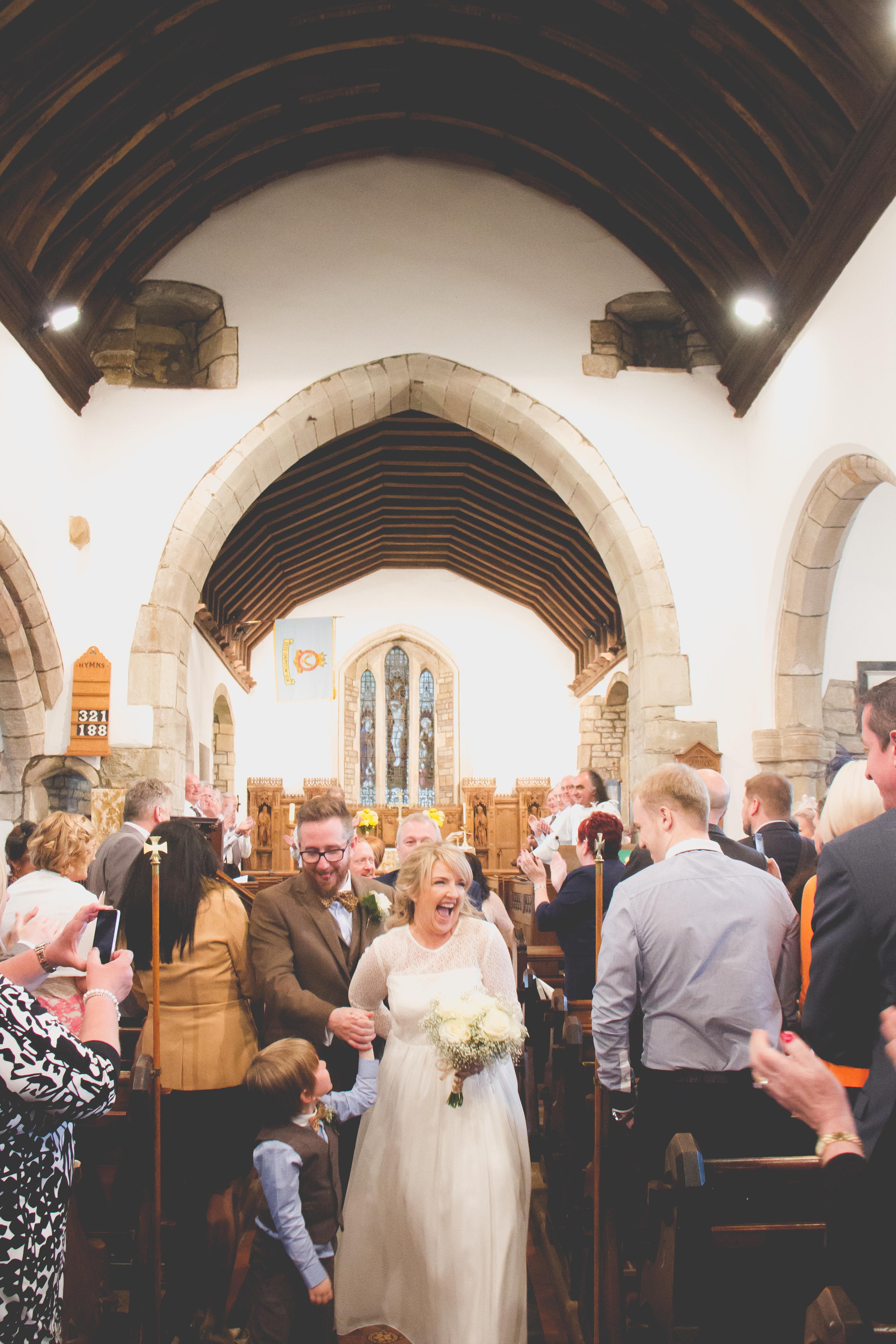 Mathern church wedding