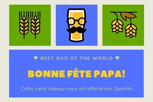Carte Cadeau : Bonne Fête Papa