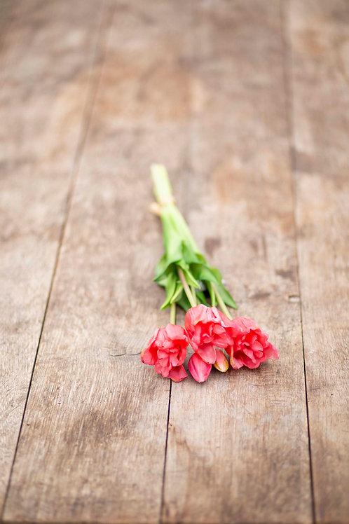 Rote Tulpen im Bündel (Kunstblumen)