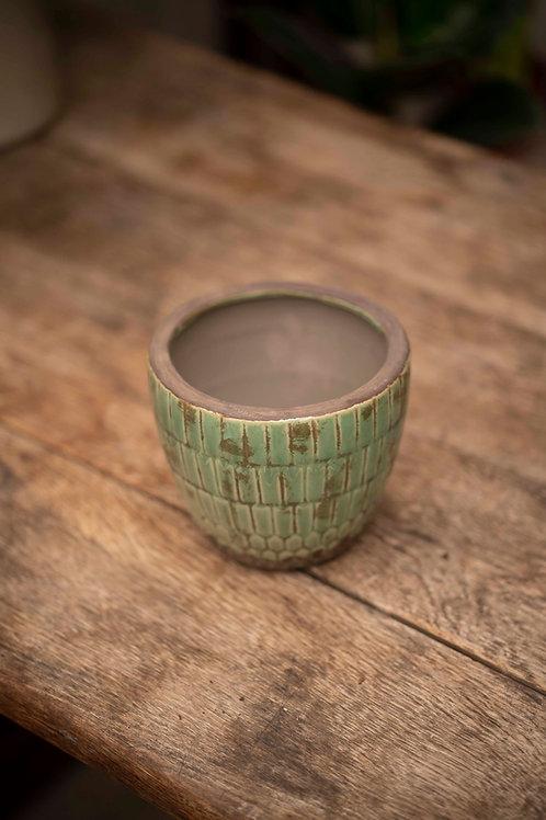 Vintage Kachel Pot