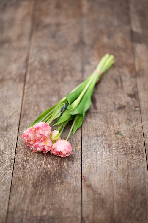 Rosa Tulpen im Bündel (Kunstblumen)