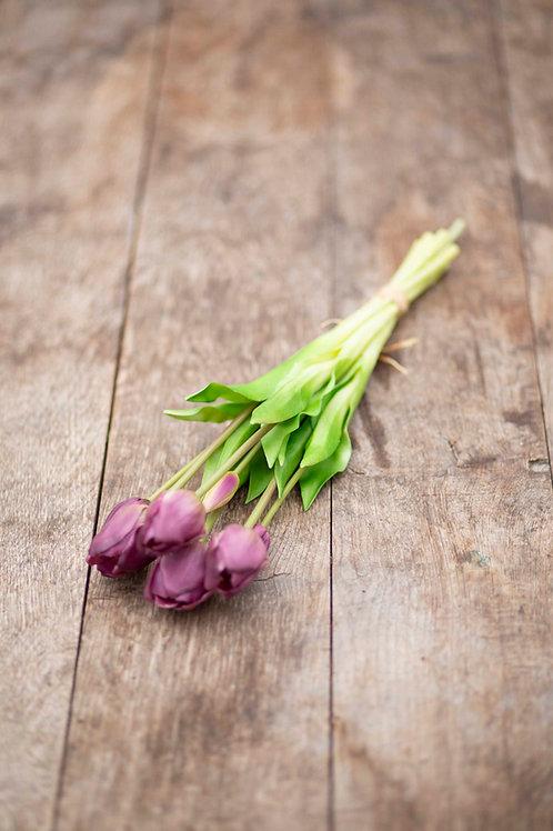 Lila Tulpen im Bündel (Kunstblumen)