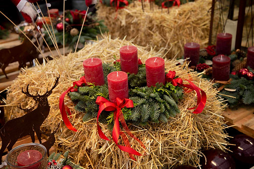 Adventskranz Inselwall