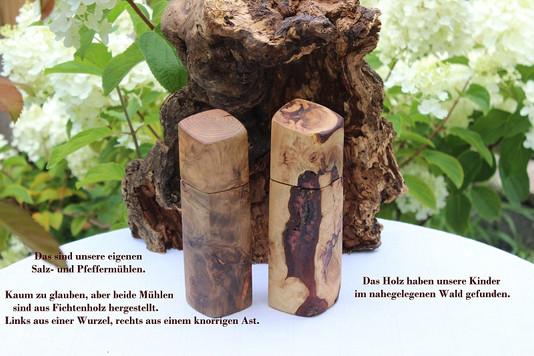 Bauermühlen aus Fichtenholz