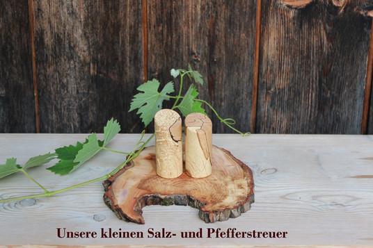 Drechslerei Bauer unsere kleinen Salz- und Pfefferstreuer