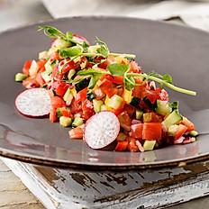 Израильский салат из летних овощей