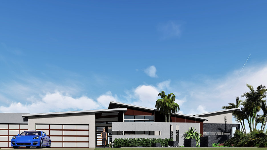 Architect designed house on a micro lot, ultra contemporary using architectural materials and form.