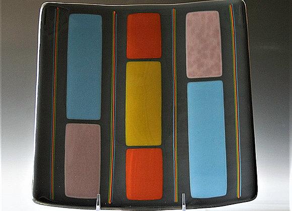 Slate Mid Century Stripes