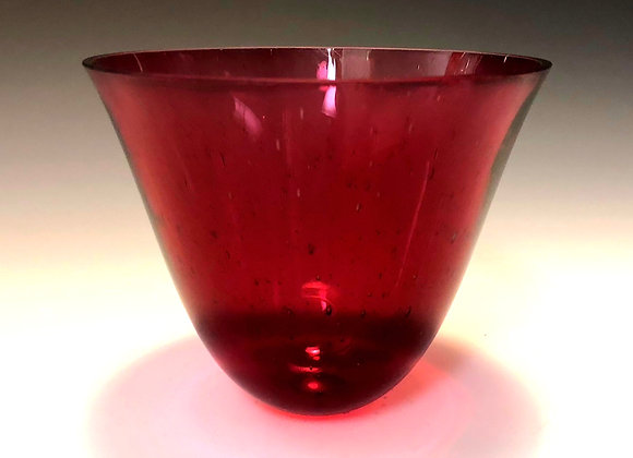Cranberry Medium Drop Bowl 1