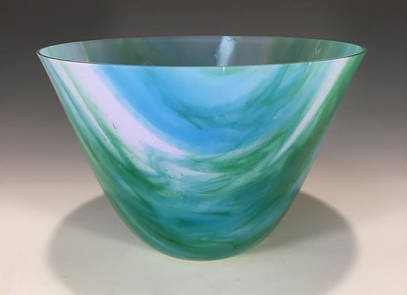 Watercolor Blue & Green Medium Bowl