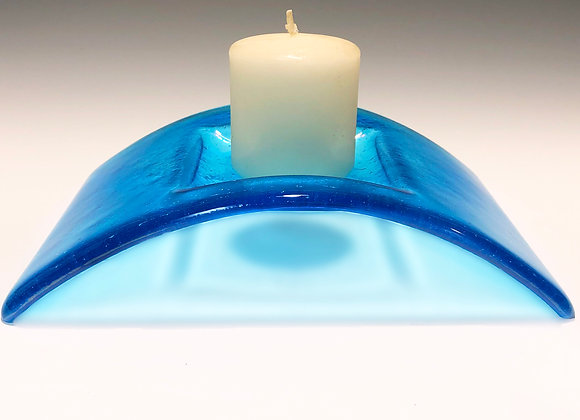 Iridescent Turquoise Candle Bridge