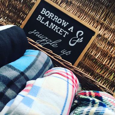 Blanket Basket and Mismatch Blankets