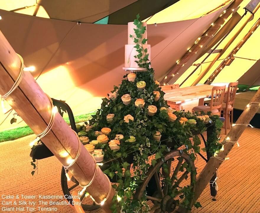 Luggage Cart Wedding Cake 'Table'