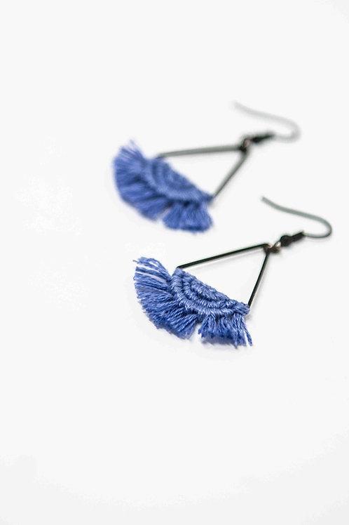 Macramé Triangle Earrings 'Luna'