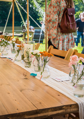 Rustic Trestle Tables