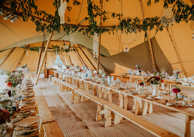 Tipi Dreamcatchers and Greenery
