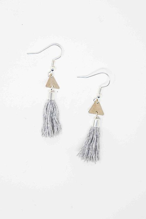 Mini Triangle Tassel Earrings