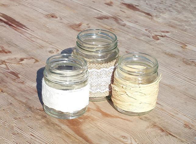 Rustic Jam Jars