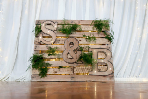 Pallet Display with Light Up Letters