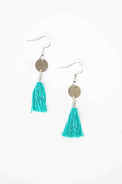 Mini Circle Tassel Earrings
