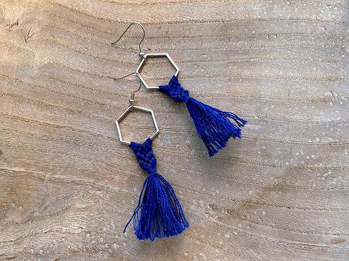 Macramé Tassel Earrings - Petite