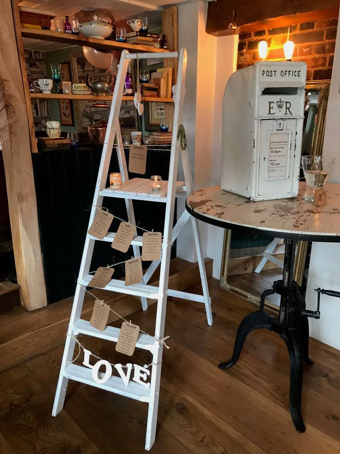 White Step Ladder