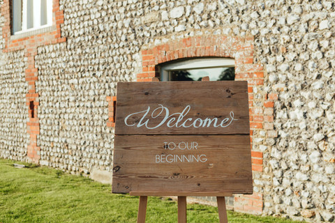 Welcome to Our Beginning Handmade Sign