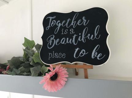 Table Chalkboard