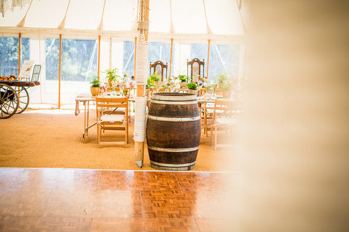 Barrel used for drink tables