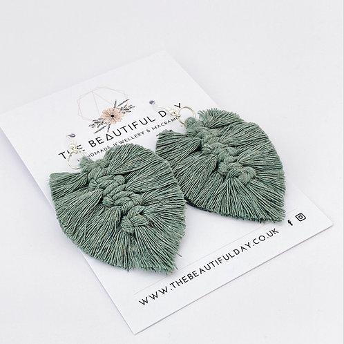 Macramé Feather Earrings