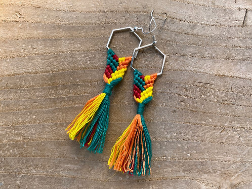 Macramé Tassel Earrings - Alternate