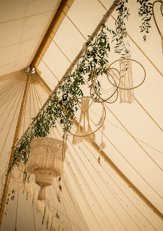 Drop Ruscus, Dreamcatchers and Macramé Chandelier