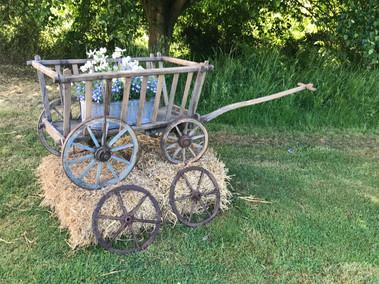 Vintage Dog Cart and Metal Cart Wheels
