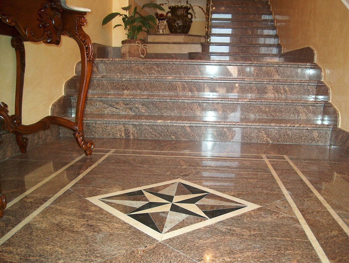 Лестница + мозайка