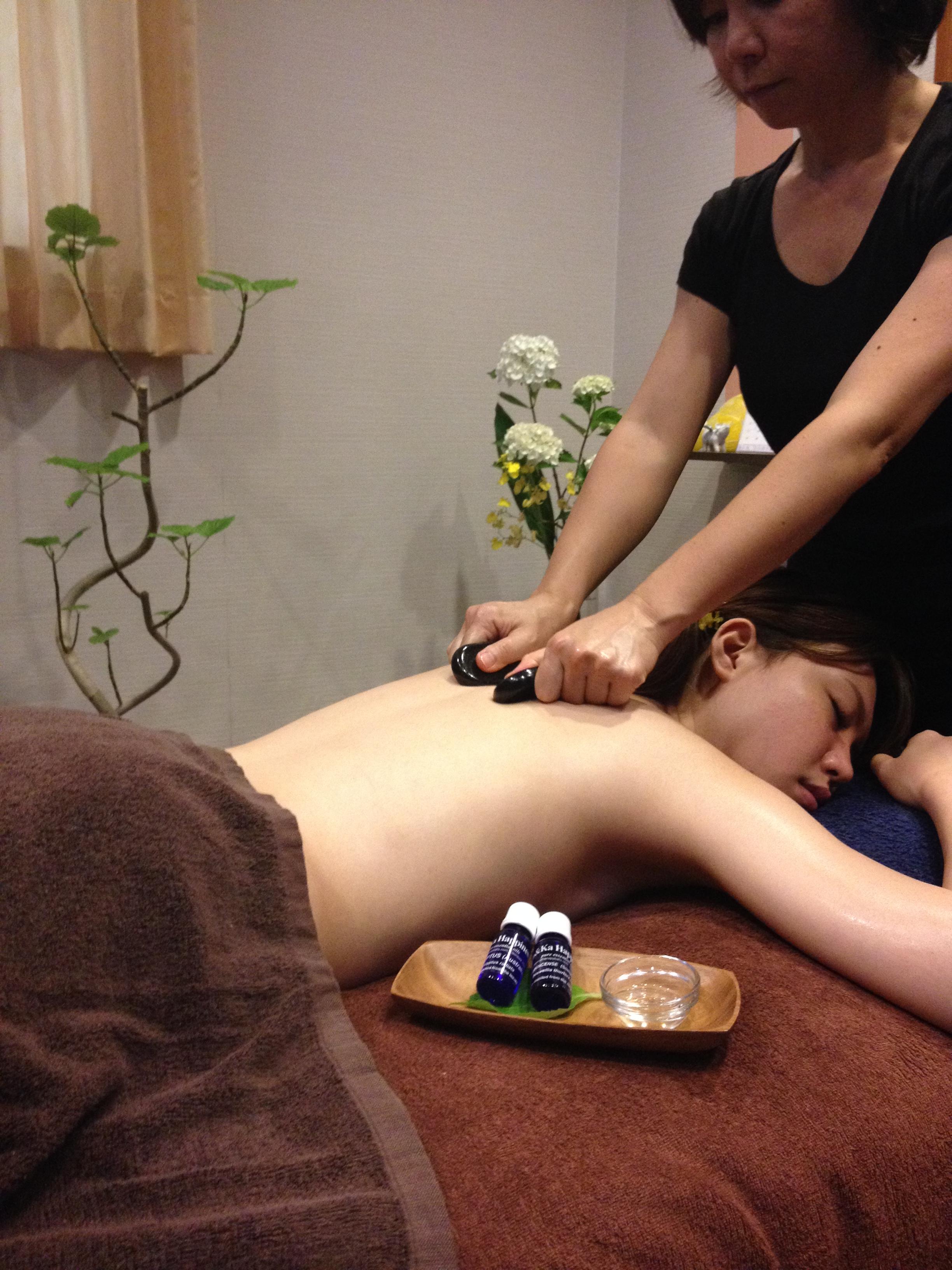 Aroma Hotstone Treatment 90min