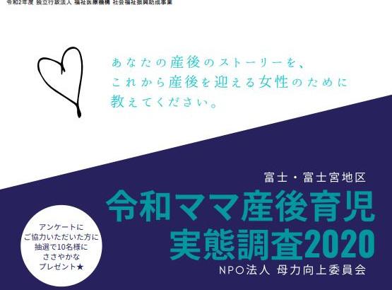 【協力のお願い】ママ産後育児実態調査2020
