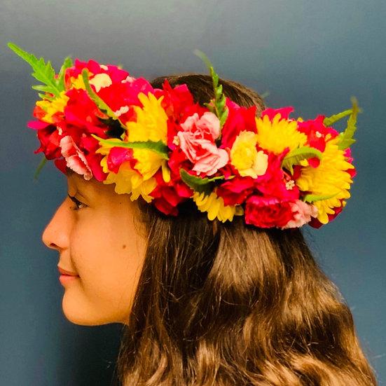 Flower Power Lei Po'o (Head Lei)