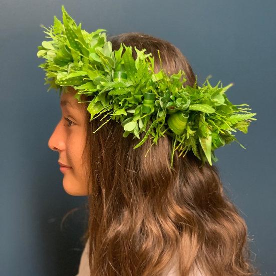 Natural Greens Lei Po'o (Head Lei)