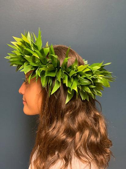 Tahitian Style Ti Lei Po'o (Head Lei)