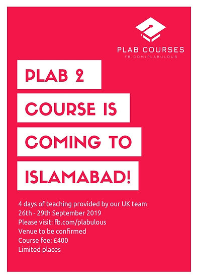 PLAB 2 Course in Islamabad September 2019