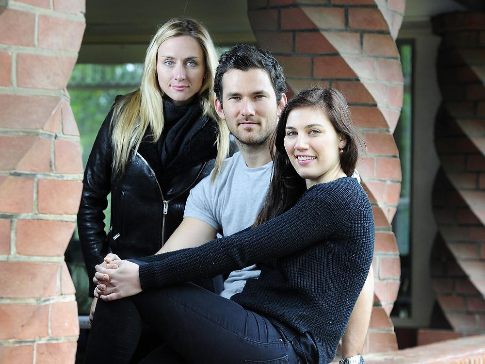 Brit Smith, Luke McKenzie and Maria Humphreys on the set of 'What We Know', Adelaide, South Australia.