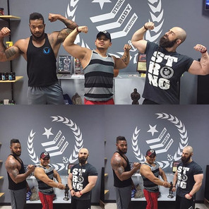 #Repost _marc_from_strongbody_・・・_Had a great session today at _goldsgymtn with _jonslater_fitness and _big_yolk ! Shout out to _1stphorm fo