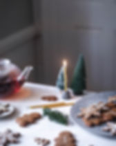 Krissy OShea Cottag Farm holidy table scape with cookies